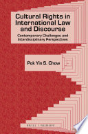 Cultural Rights in International Law and Discourse