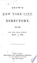 Trow's New York City Directory