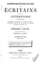 Dictionnarie manuel illustr   des   crivains et des litt  ratures