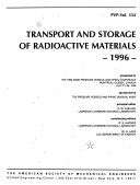 Transport and Storage of Radioactive Materials