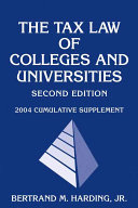 The Tax Law of Colleges and Universities