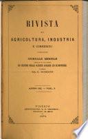 Rivista di agricoltura, industria e commercio