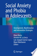 Social Anxiety And Phobia In Adolescents