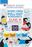 Oswaal NCERT   CBSE Pullout Worksheet Class 10 English Language   Literature  For 2021 22 Exam