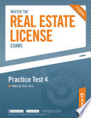 Master the Real Estate License Exam  Practice Test 4
