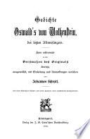 Gedichte Oswald's von Wolkenstein