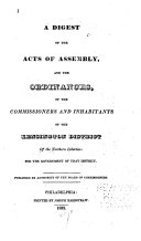 download ebook a digest of the acts of assembly and the ordinances, of the commissioners and inhabitants of the kensington district ... pdf epub
