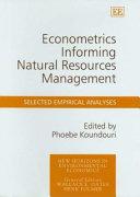 Econometrics Informing Natural Resources Management