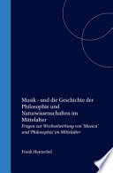 Musik  Und Die Geschichte Der Philosophie Und Naturwissenschaften Im Mittelalter