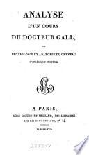 Analyse d un cours du docteur Gall
