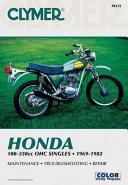 Honda OHC Sngls 100 350cc 69 82