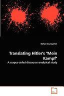 Translating Hitler s  Mein Kampf