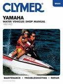 Clymer Yamaha Water Vehicles Shop Manual 1987 1992