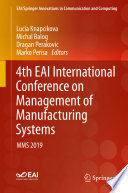 4th EAI International Conference on Management of Manufacturing Systems