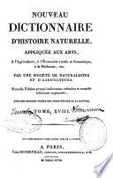 Nouveau dictionnaire d histoire naturelle  appliqu  e aux arts     l agriculture     l economie rurale et domestique     la m  decine