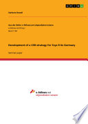 Development of a CSR strategy for Toys R Us Germany