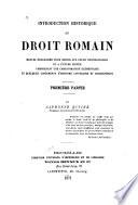 Introduction historique au droit romain