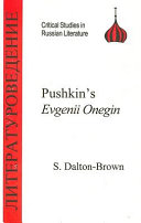 Pushkin s Evgenii Onegin
