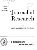 Journal of Research of the National Bureau of Standards