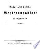 Grossherzoglich hessisches Regierungsblatt