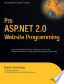 Pro ASP NET 2 0 Website Programming