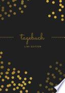 Tagebuch Sch N A5 Liniert 100 Seiten 90g M2 Soft Cover Goldene Punkte Schwarz Fsc Papier
