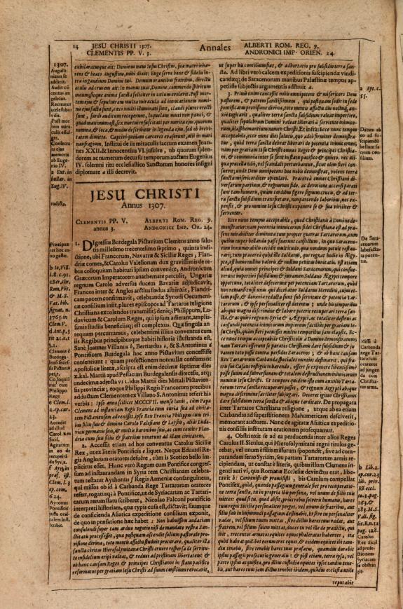 Annales ecclesiastici :ab anno quo desinit Caes. Card. Baronius MCXCVIII usque ad annum MDXXXIV....