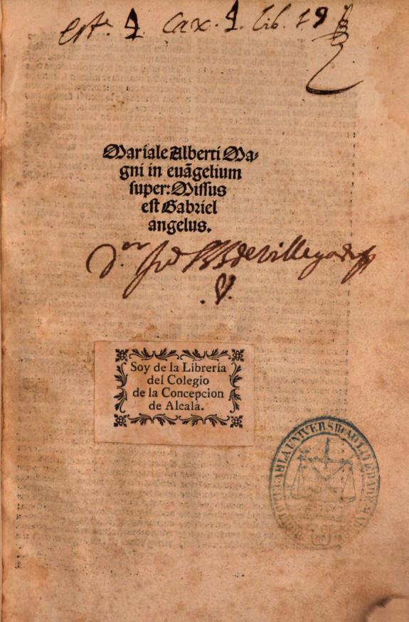 Mariale Alberti Magni in eua[n]gelium super :missus est Gabriel angelus.