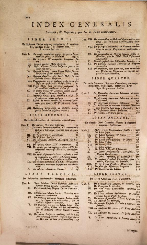 Disquisitiones biblicae ... Claudii Frassen ... :in duo volumina distributae