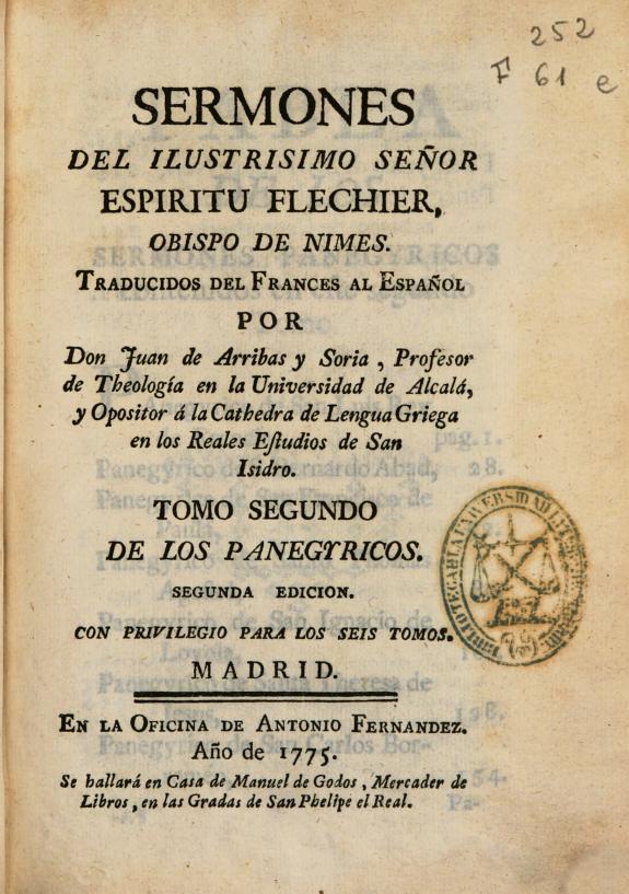 Sermones del ilustrisimo señor Espiritu Flechier ... /
