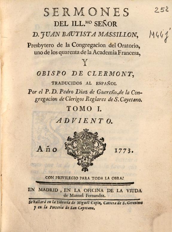 Sermones del Illmo. señor D. Juan Bautista Massillon ... /