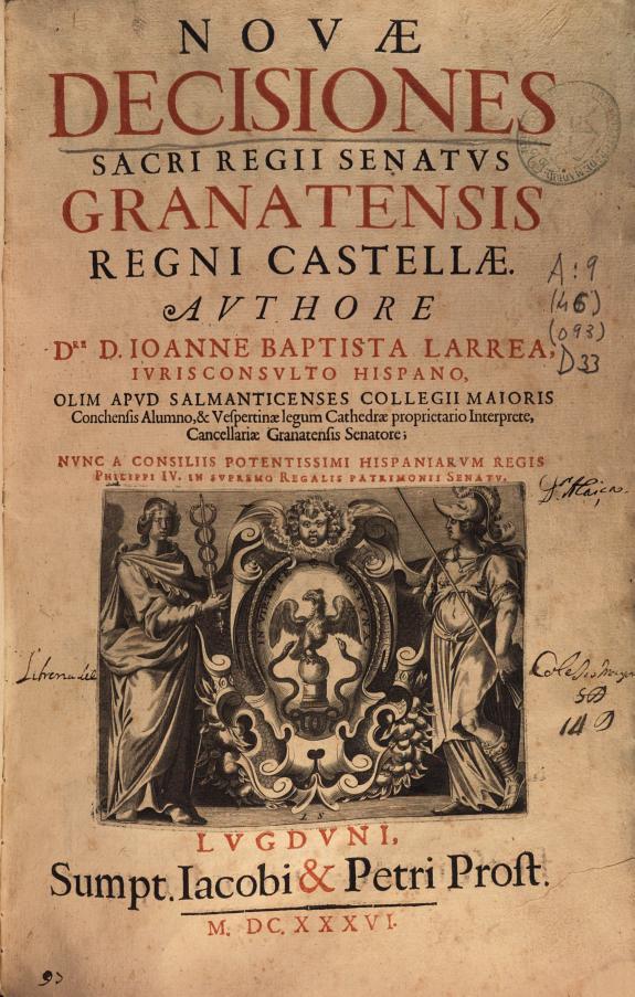 Nouae decisiones Sacri Regii Senatus Granatensis regni castellae  /