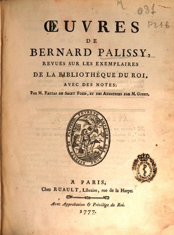 Oeuvres de Bernard Palissy /