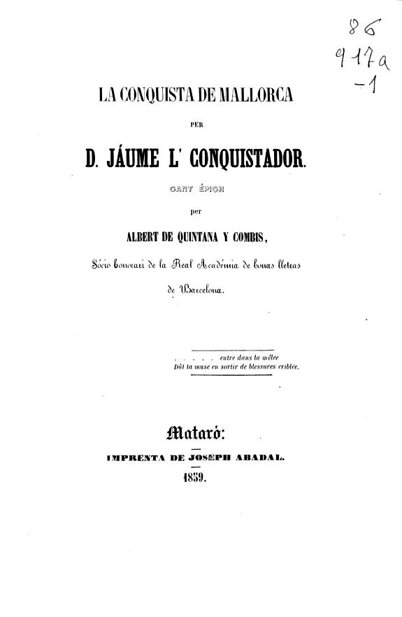 La conquista de Mallorca per D. Jáume l