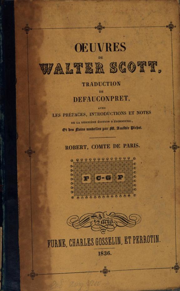 Oeuvres de Walter Scott.