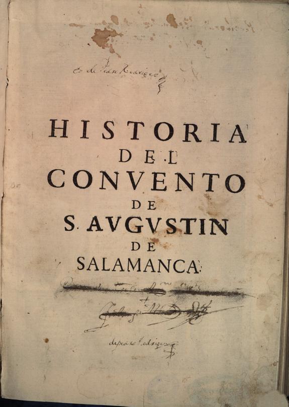 Historia del conuento de S. Augustin de Salamanca /