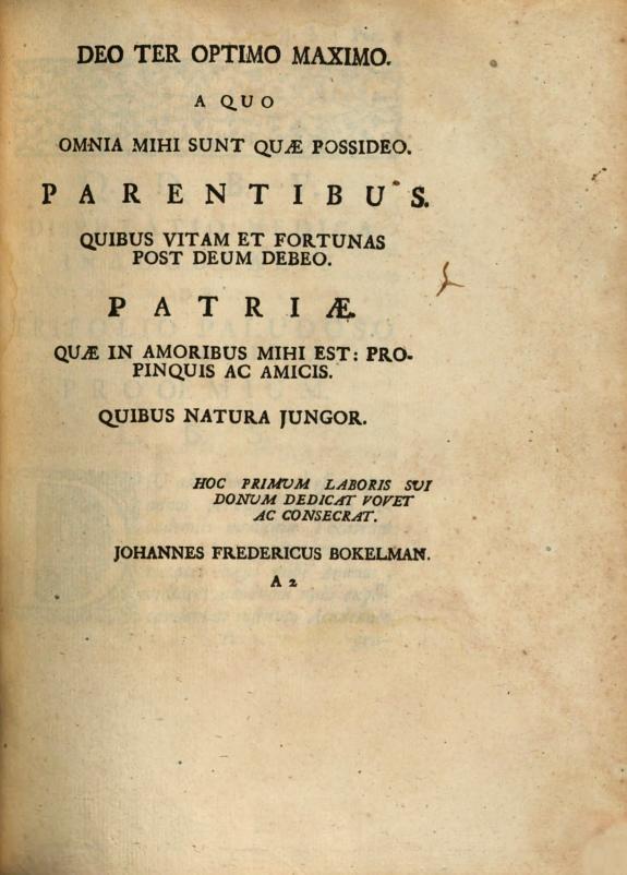 Dissertatio medica inauguralis. De trifolio paludoso seu fibrino ... ex auctoritate magnifici rectoris D. Johannis Jacobi Rau ... ; pro gradu doctoratus ... Johannes Freder. Bokelmann ...