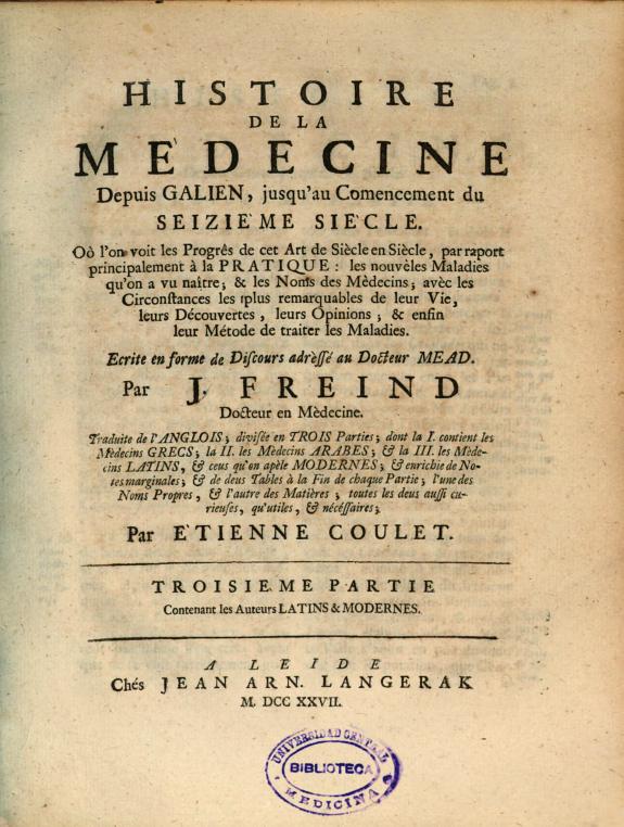 Histoire de la medecine :Depuis Galien, jusqu