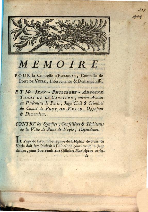 Memoire pour la comtesse d