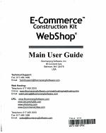 E-commerce Construction Kit, Webshop