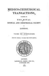 Medico-chirurgical Transactions: Volume 74