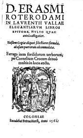 In Laurentii Vallae elegantiarum libros epitome, ...