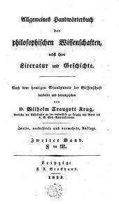 Allgemeines Handwörterbuch der philosophischen Wissenschaften nebst ihrer Literatur und Geschichte