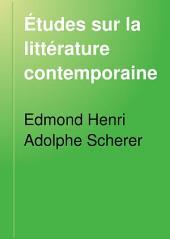 Études sur la littérature contemporaine: Volume7