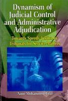 Dynamism of judicial control and administrative adjudication PDF