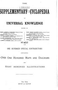 The Supplementary Cyclopedia of Universal Knowledge     PDF