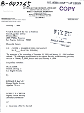 California. Court of Appeal (2nd Appellate District). Records and Briefs: B047765, Other