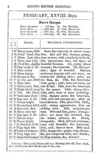 Orion s prophetic guide and weather almanac  formerly The British weather almanac   PDF