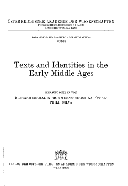 Texts and Identities in the Early Middle Ages PDF