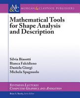 Mathematical Tools for Shape Analysis and Description PDF